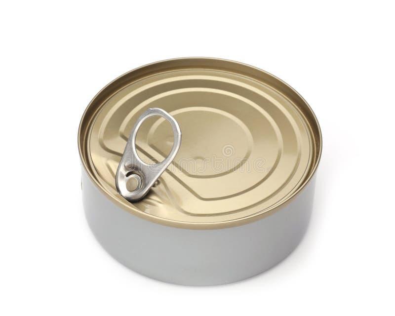 Potenciômetro de colocação em latas dos peixes fechados imagens de stock