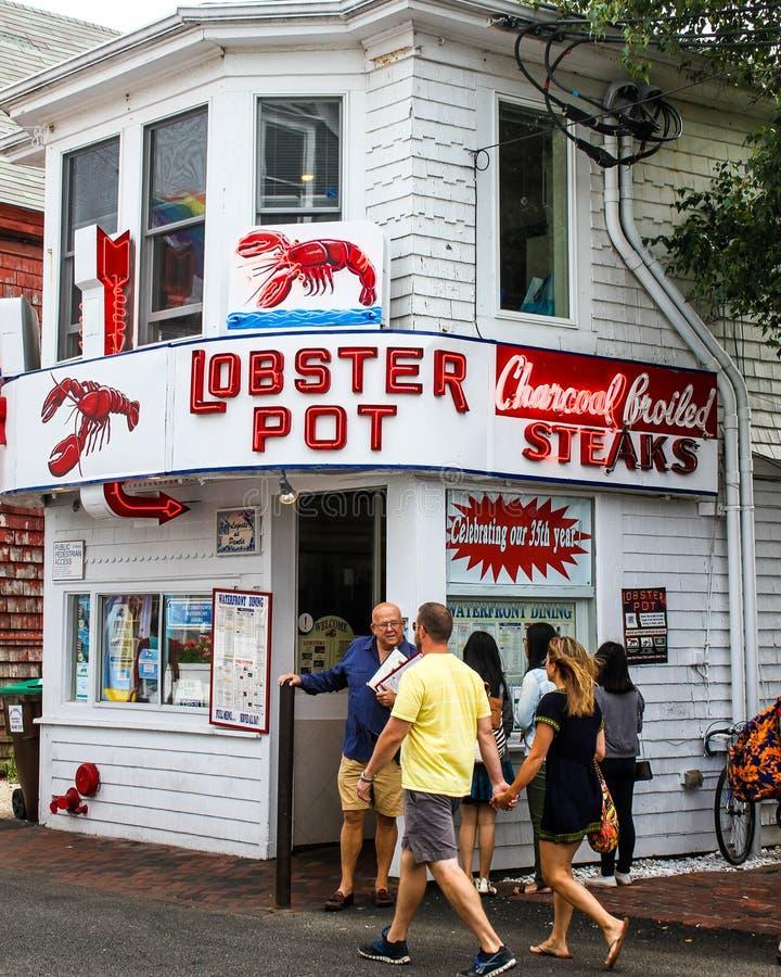 Potenciômetro de lagosta, Provincetown, miliampère foto de stock