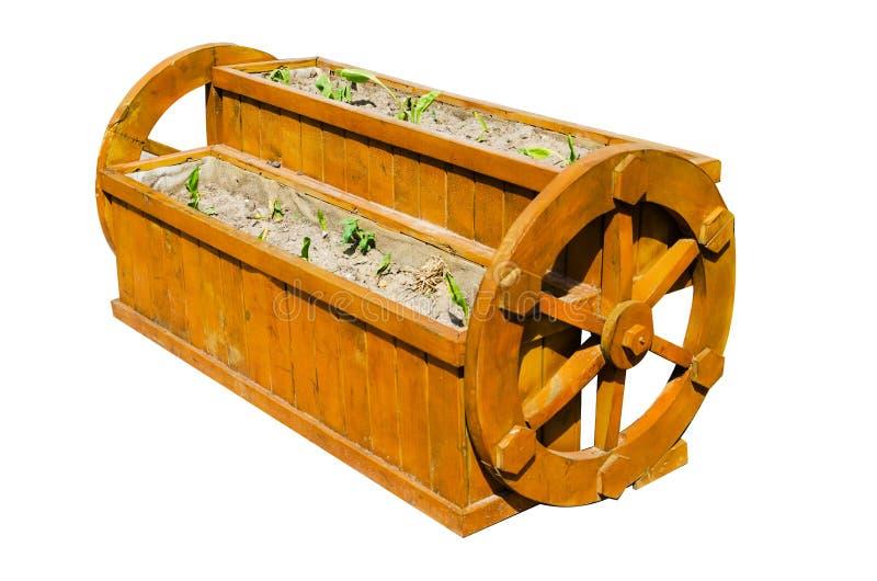 Potenciômetro de madeira fotografia de stock