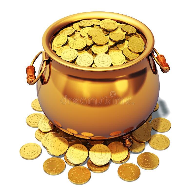 Potenciômetro de ouro ilustração royalty free