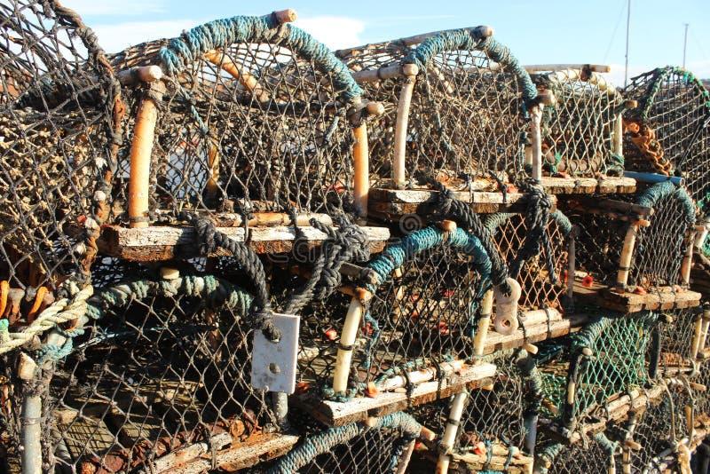 Potenciômetros de lagosta em Brigghton imagem de stock royalty free