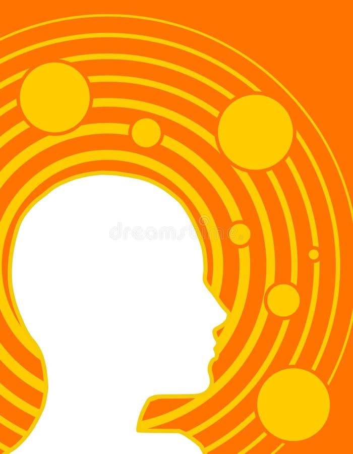 Potencia 3 de la mente de la inteligencia del intelecto stock de ilustración