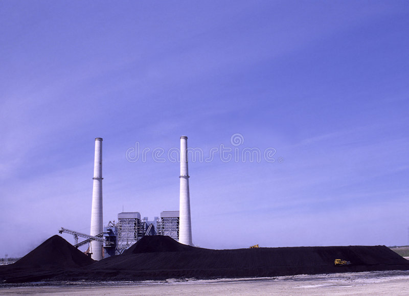Potencia de carbón imagen de archivo