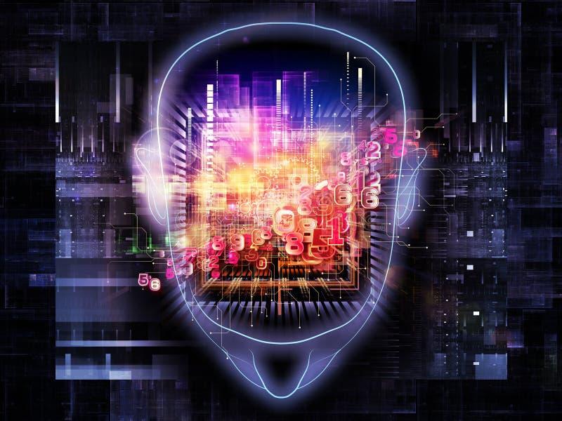 Potencia de cerebro stock de ilustración
