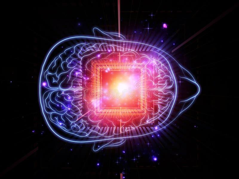 Potencia de la mente ilustración del vector