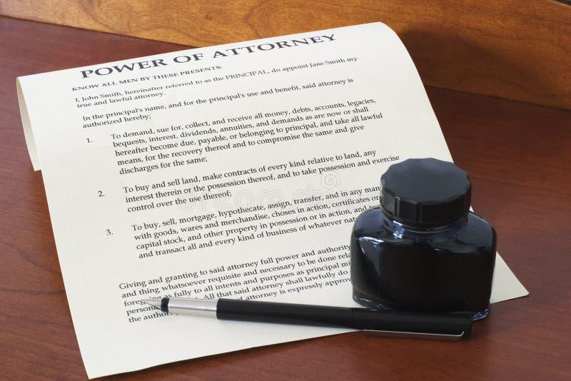 Potencia del abogado 1 fotografía de archivo
