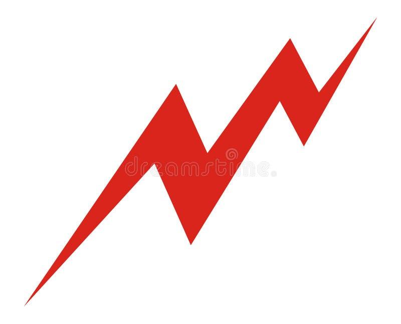 Potencia del icono [electricidad] stock de ilustración