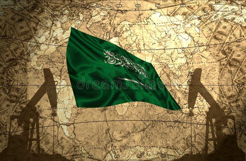 Potencia del petróleo de la Arabia Saudita stock de ilustración