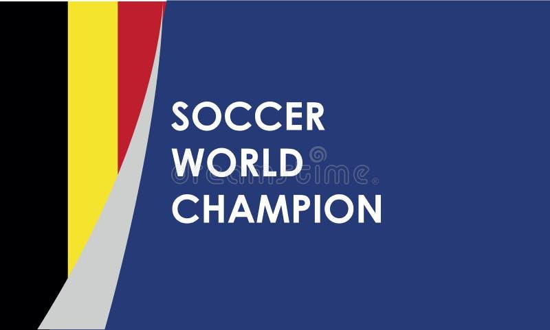Potentiële kampioen, het voetbal van België, vectorillustratie vector illustratie