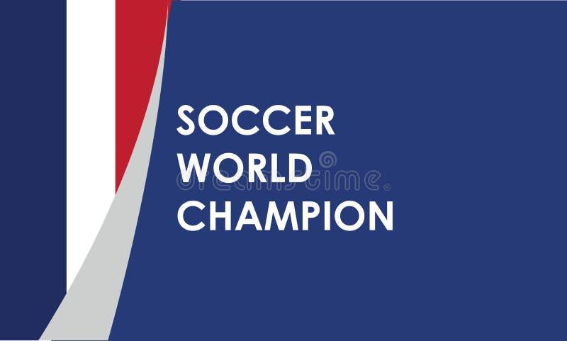 Potentiële kampioen, het voetbal van Frankrijk, vectorillustratie stock illustratie