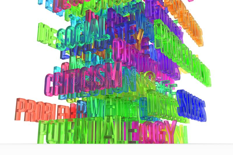 Potential, business conceptual colorful 3D rendered words. Typography, wallpaper, style & message. Potential, business conceptual colorful 3D rendered words stock illustration