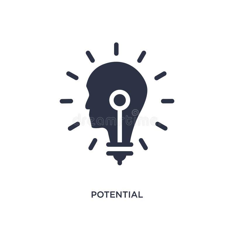 potentiell symbol på vit bakgrund Enkel beståndsdelillustration från att marknadsföra begrepp stock illustrationer