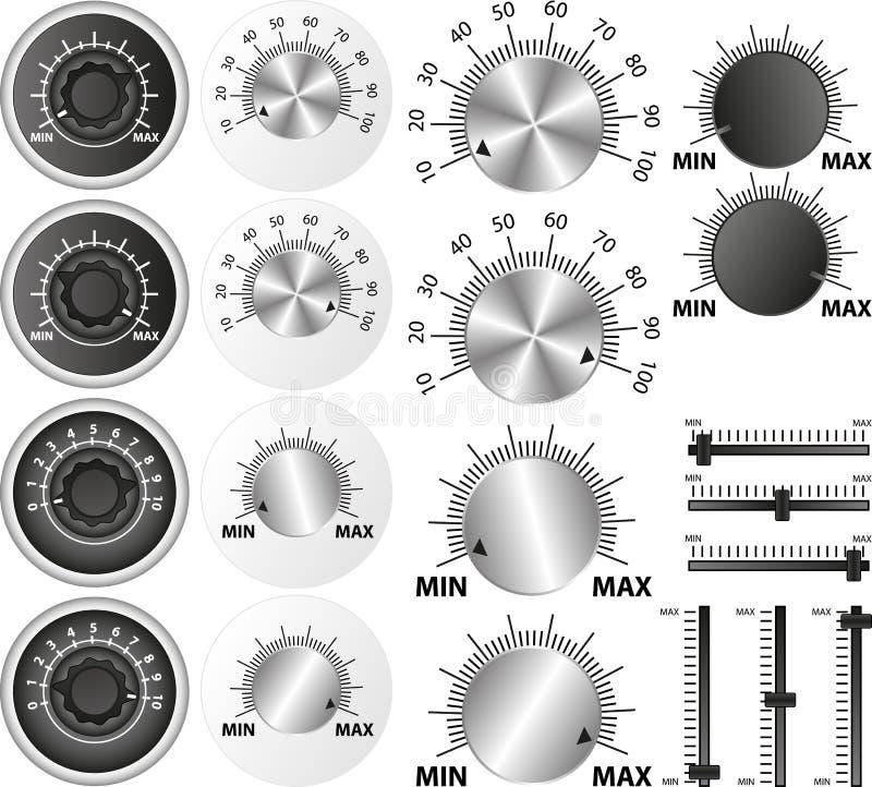 Potentiometer stock illustrationer