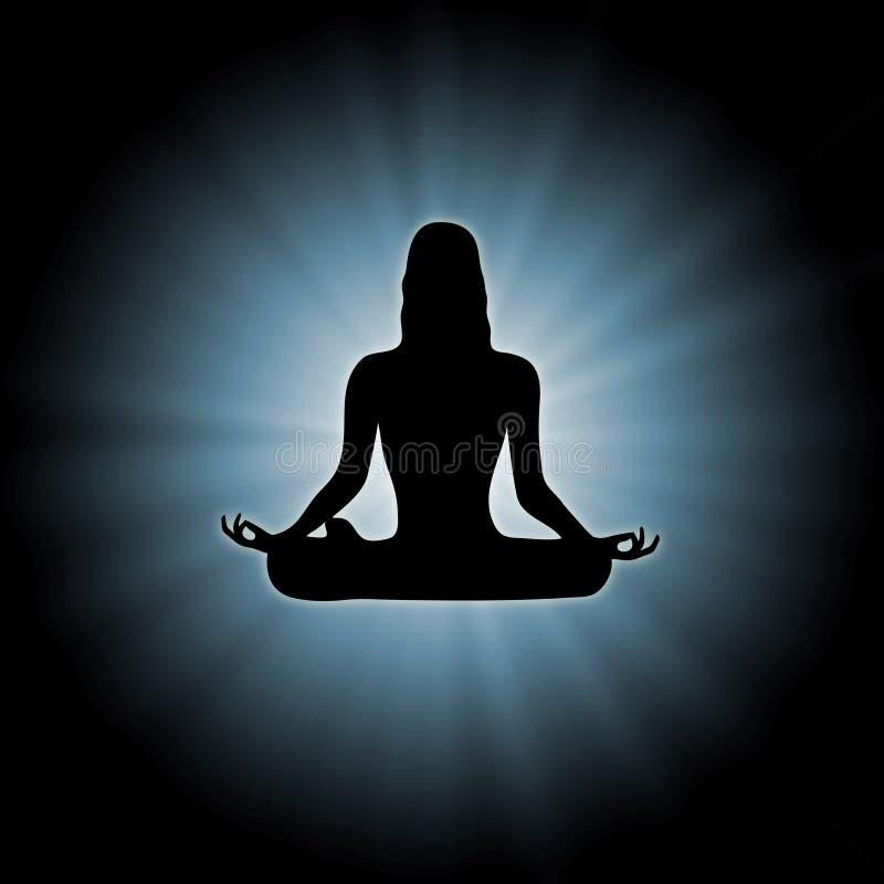 Potenza 1 di yoga royalty illustrazione gratis