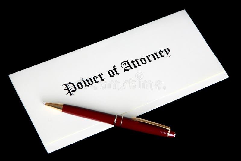 Potenza del documento giuridico dell'avvocato immagine stock libera da diritti