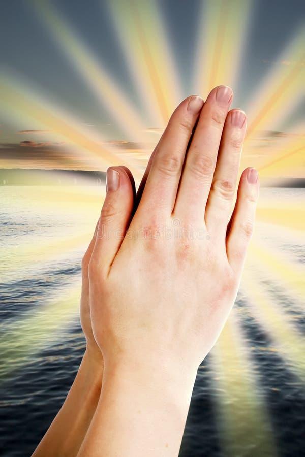 Potenza della preghiera fotografie stock libere da diritti