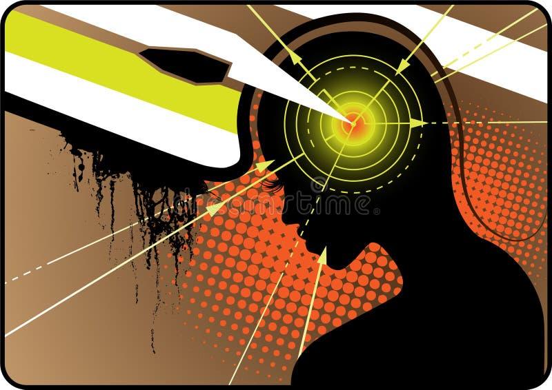 Potenza di cervello illustrazione vettoriale