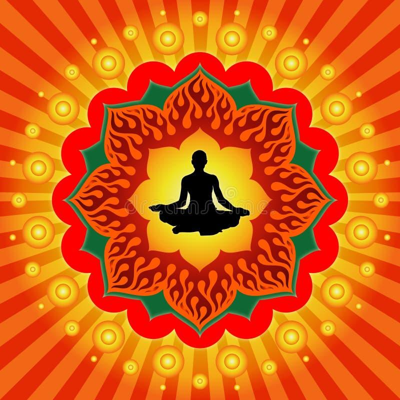 Potenza di yoga illustrazione vettoriale