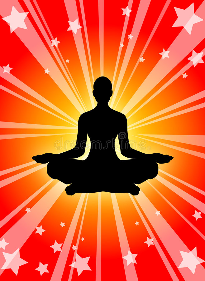 Potenza di yoga royalty illustrazione gratis