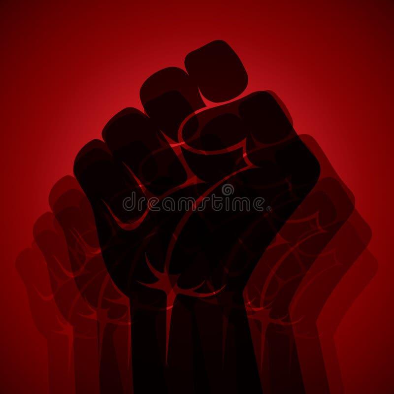 Potenza ed unità di manifestazione della mano royalty illustrazione gratis