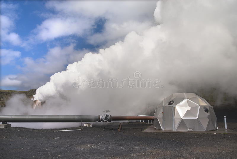Potenza geotermica in Islanda fotografie stock libere da diritti