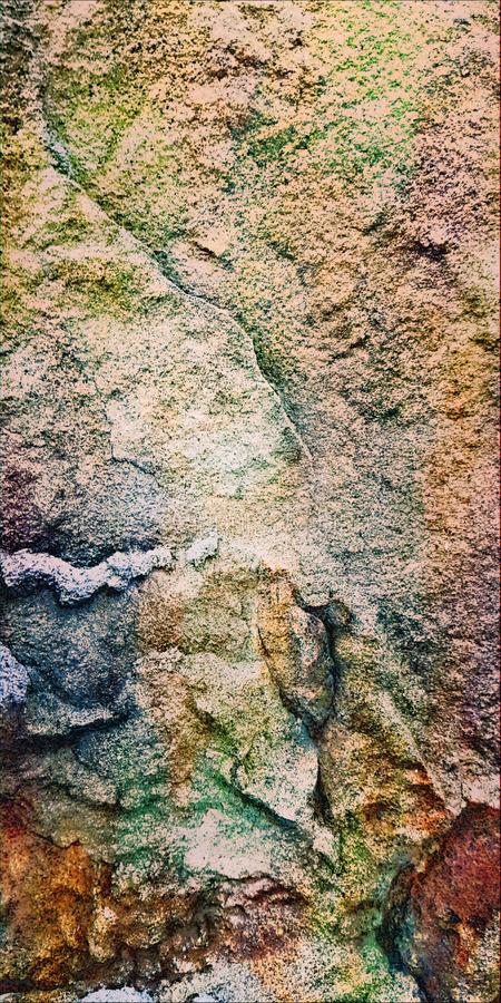 Potenza misteriosa La struttura della pietra naturale Macro Fondo immagine stock