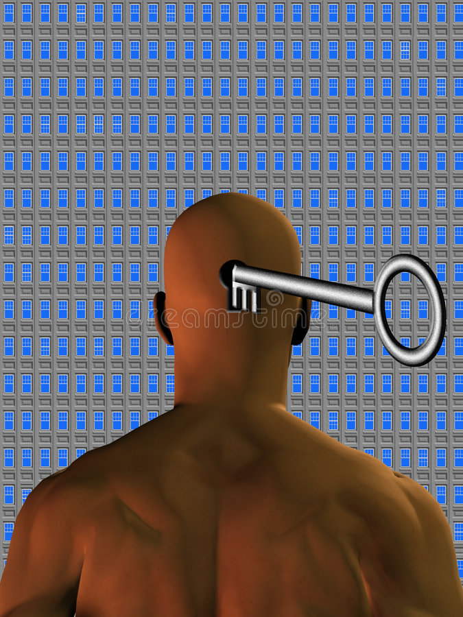 Potenziale di mente di Windows illustrazione di stock