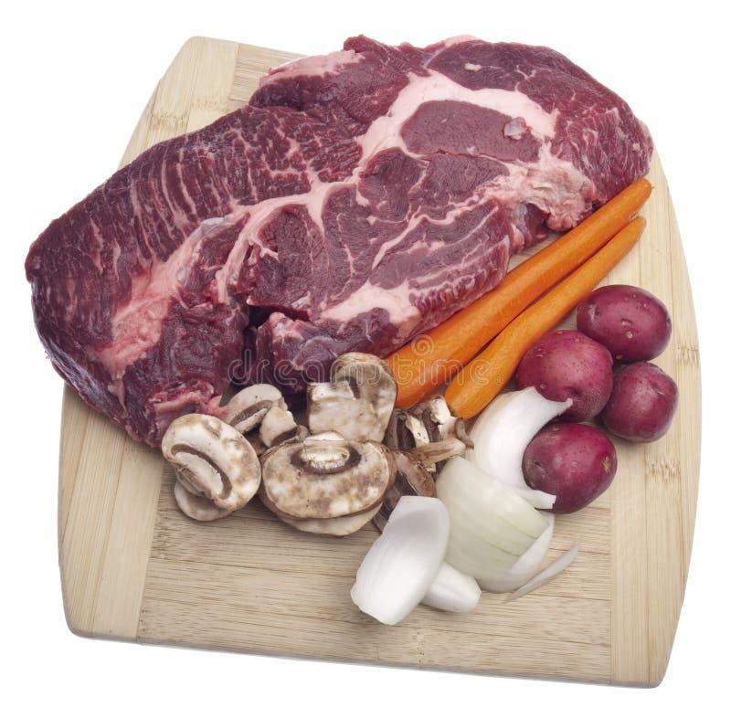 Potenziometer-Braten-Abendessen-Vorbereitung lizenzfreies stockfoto