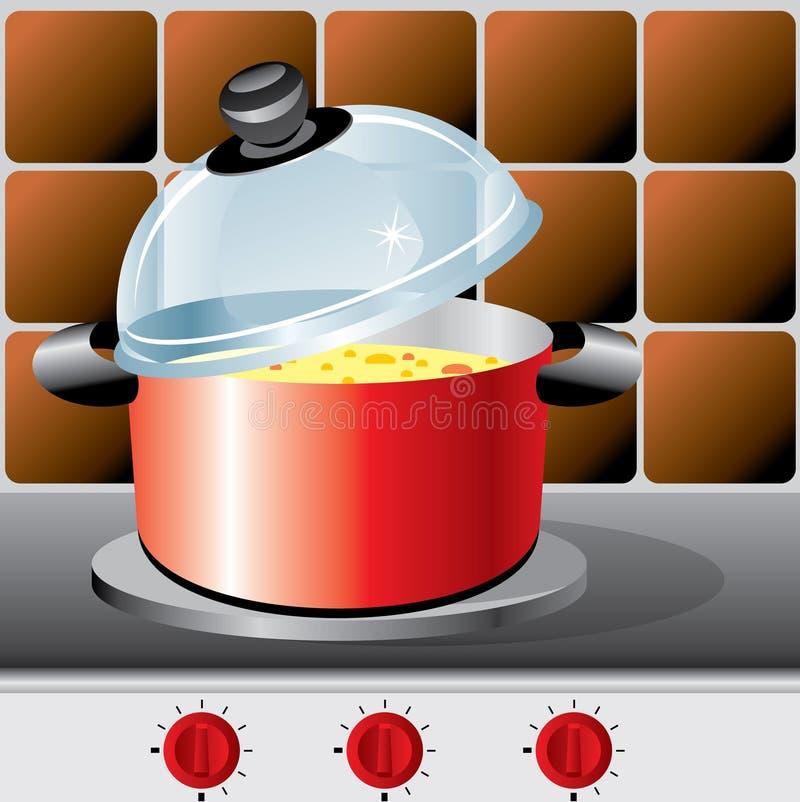 Potenziometer der Suppe lizenzfreie abbildung