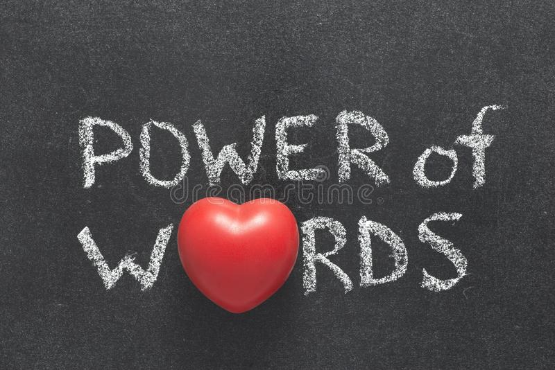 Potere del cuore di parole fotografie stock