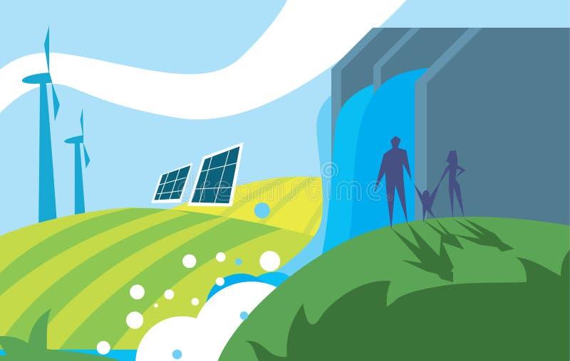 Potere dell'energia pulita illustrazione di stock