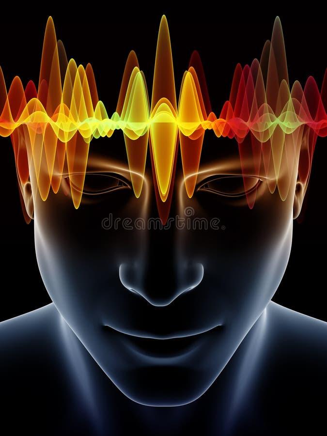 Potere della mente umana illustrazione vettoriale