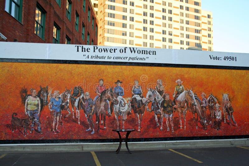 Potere della mostra di arte delle donne immagini stock