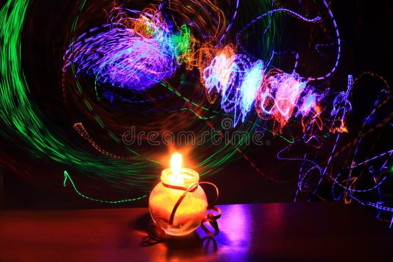 Potere di candela fotografia stock