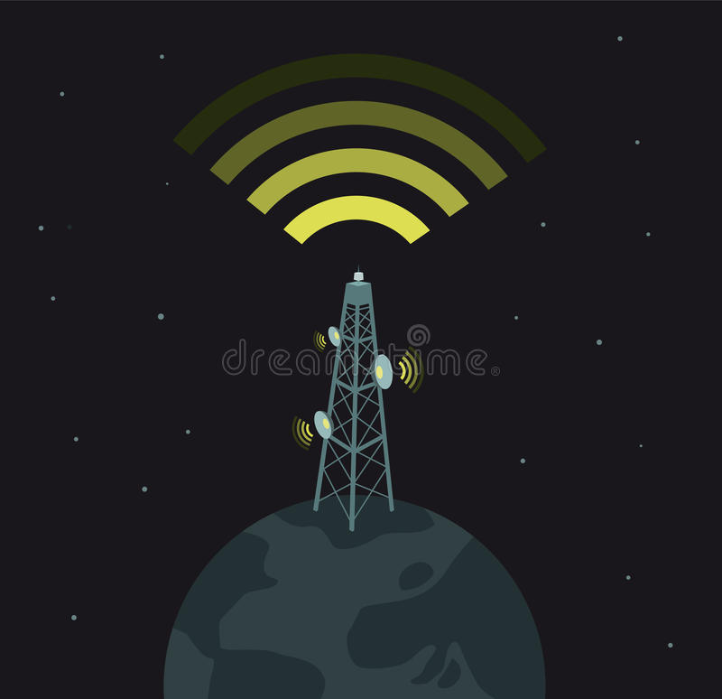 Potere di comunicazioni/dominazione del mondo illustrazione di stock
