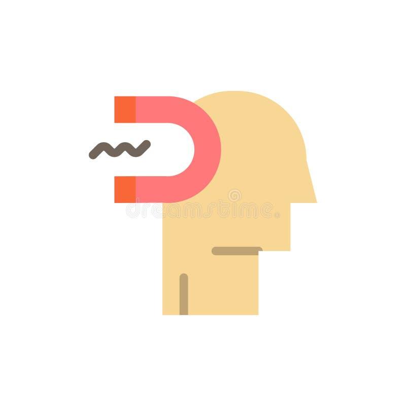 Potere, influenza, impegno, essere umano, influenza, icona piana di colore del cavo Modello dell'insegna dell'icona di vettore illustrazione vettoriale