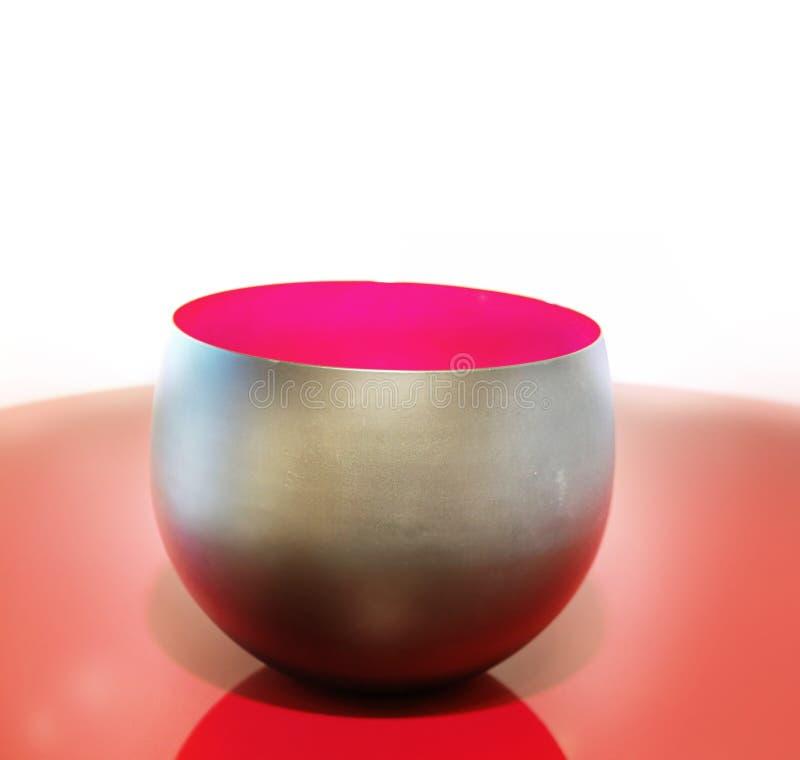 Poterie élégante moderne rougeoyante de vase photos libres de droits