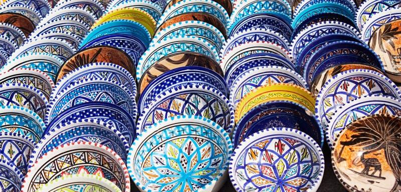 Poterie colorée arabe photo libre de droits