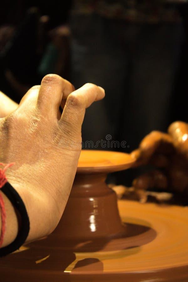 poterie dans la fabrication photographie stock libre de droits