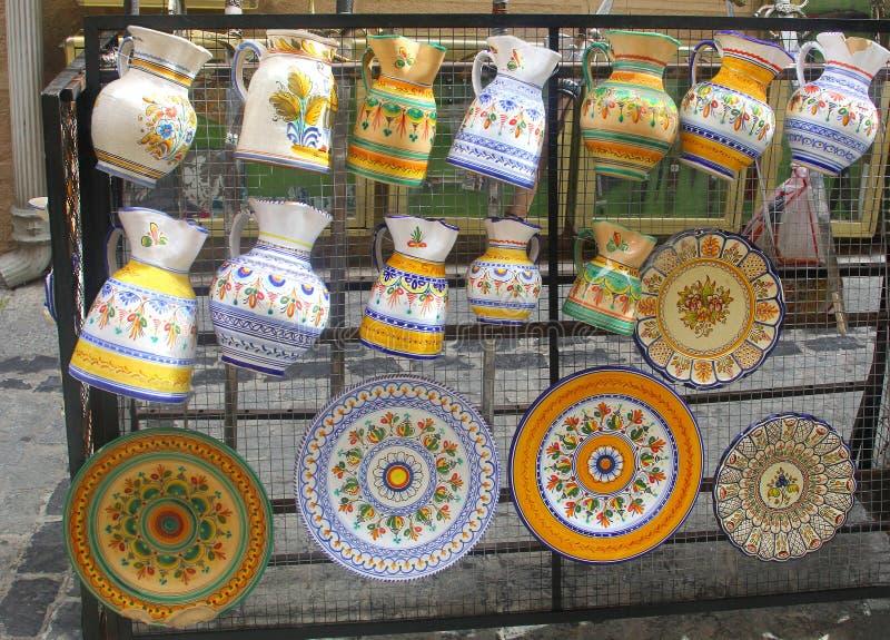Poterie en céramique espagnole, Toledo, Espagne images libres de droits