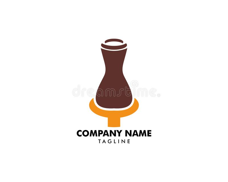 Poterie Logo Template Design Vector illustration stock