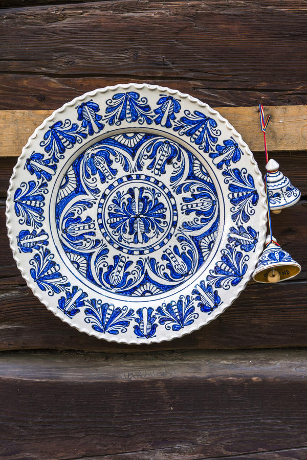 Poterie peinte traditionnelle faite main images libres de droits