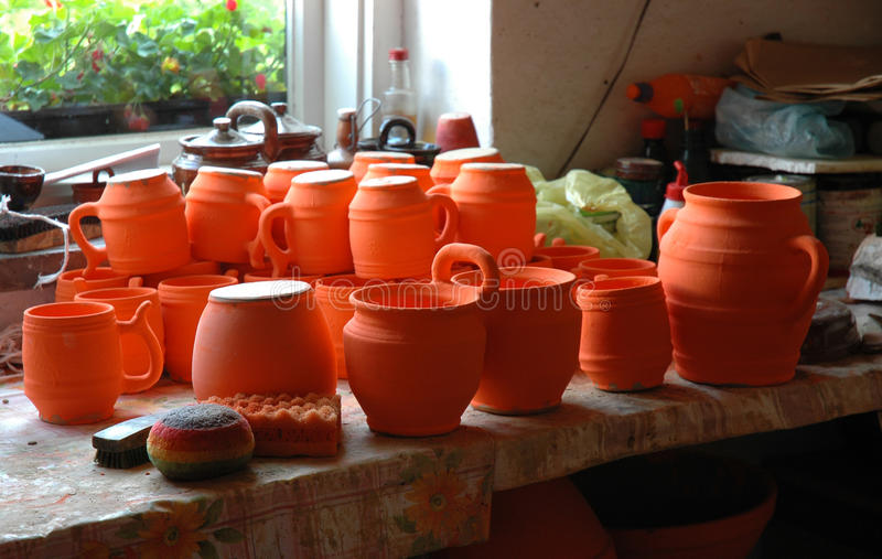 Poterie polonaise traditionnelle photographie stock