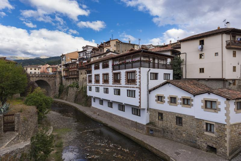 Potes Cantabrië, Spanje stock afbeelding