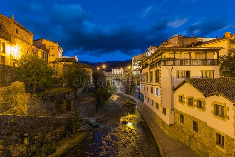 Potes Cantabrië, Spanje stock foto
