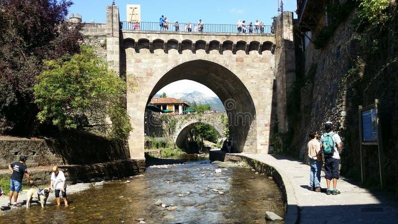 Potes Cantabria, Spanien royaltyfri foto