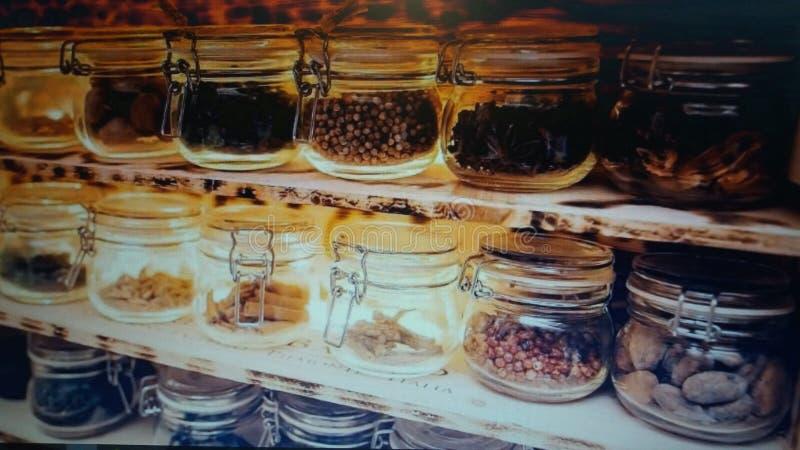 Potes de cristal imagen de archivo libre de regalías