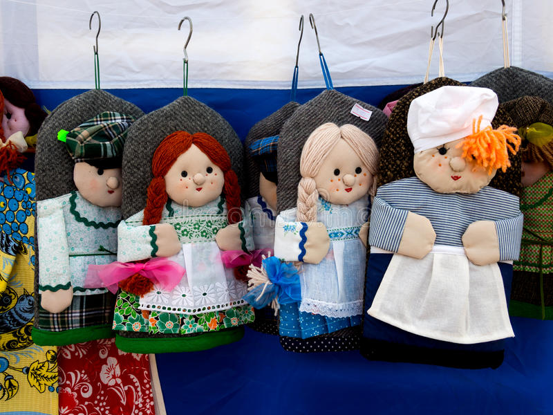 Potholders hot as the heroes of the Russian people. Murmansk, Russia - March 13, 2016: Potholders hot as the heroes of the Russian people stock photos