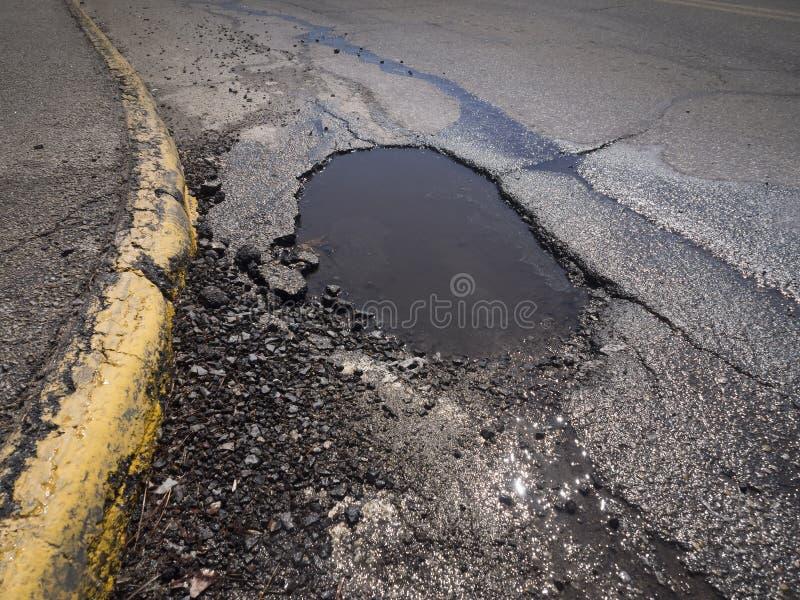Pothole royalty free stock photo
