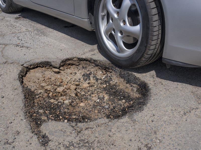 Pothole Vermijden Stock Foto's